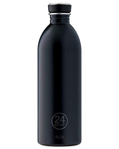 24Bottles Urban Trinkflasche Unisex - Erwachsene Tuxedo Black, 1000 ml