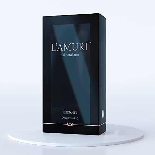 L'AMURI Fallo Italiano Elegante - Nuovi Profilattici iper sottili ed extra resistenti per sensazioni super - Leggermente lubrificati - 1 scatola 12 pezzi