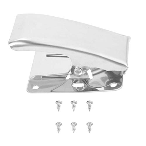 Deep-Jaw Design Fish Fillet Clamp, Stainless Steel Fish Tail Clip w/ 6 Self-tapping Screws for Mount on the Cleaning Table Bait Board, Portable Fish Cleaning Tool