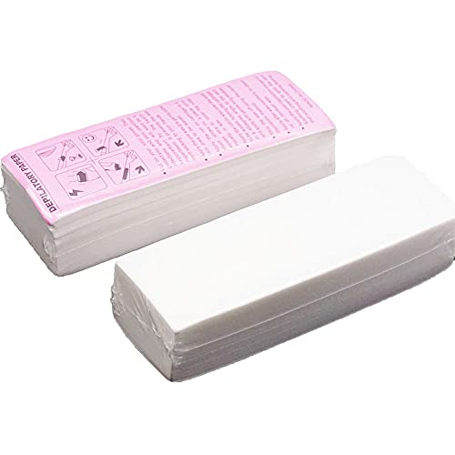 ANCLLO 100 Stks Professionele Ontharing Tool Ontharend Papier Vlies Epilator Vrouwen Wax Strip Papier Scheren Roll Waxen Glad Benen
