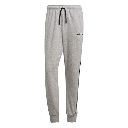 Adidas Men's Essential 3-Stripes French Terry Track Pants, Medium Grey Heather/Black/Medium Grey Heather Solid Grey, 2XTG