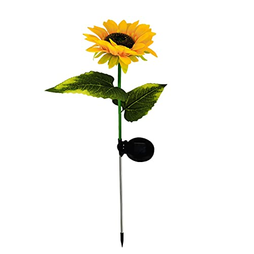 Solar Garden Lights Outdoor Solar Powered Sunflower Lights-Stake Decorative Lights Realistic & Natural Looking Flowers Landscape Lights for Balcony Lawn Garden Patio Porch Backyard Decoration
