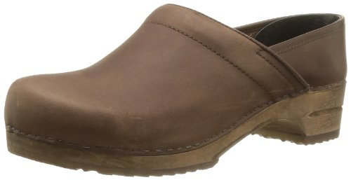 Sanita Herren Jamie closed Clogs, Braun (Antique Brown 78), 42 EU