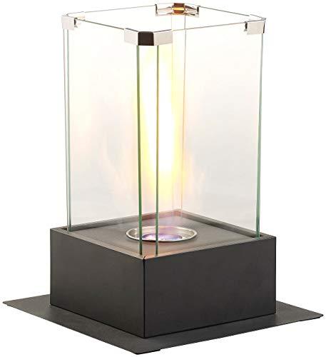 Carlo Milano Tischkamin: Bio-Ethanol-Dekofeuer, Tornado-Flammen-Effekt, bis 60 Min. Brenndauer (Feuertornado Tisch)