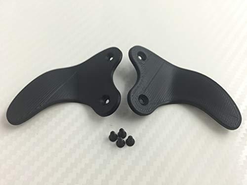 PS4 Controller Paddles 'SHARK TEETH', inkl.Schrauben, verschiedene Farben (schwarz)