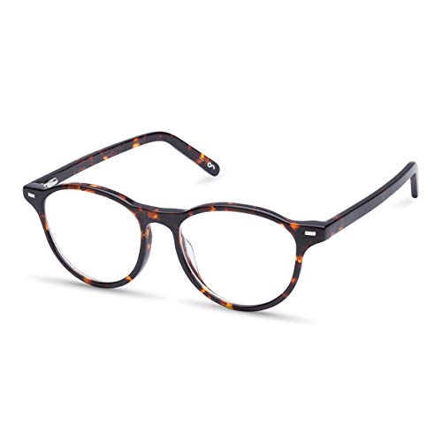 Gleitsichtbrille, Personalisierte Brille mit Sehstärke Zusendung Brillenpass), hochwertige Verarbeitung, aus Acetat und Metall, für Kurzsichtigkeit und Weitsichtigkeit, Unisex, Blaulichtschutz