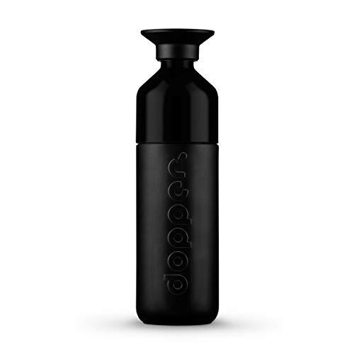 dopper Insulated - Isolierte Trinkflasche aus Edelstahl | Thermosflasche 580 ml |Isolierflasche mit nachhaltigen Statement – Take That, Einwegplastik! Mit Tasse – Blazing Black