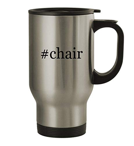 Slide Forward chair - 14oz Stainless Steel Hashtag Travel Coffee Mug, Silver