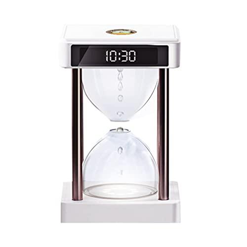 Greatangle-UK Gotas de Agua levitantes flotantes antigravedad Lámpara de Tiempo Reloj de Arena Lámpara de Fuente Lámpara Hydra Decoración de Escritorio Blanco 158 * 158 * 268 mm
