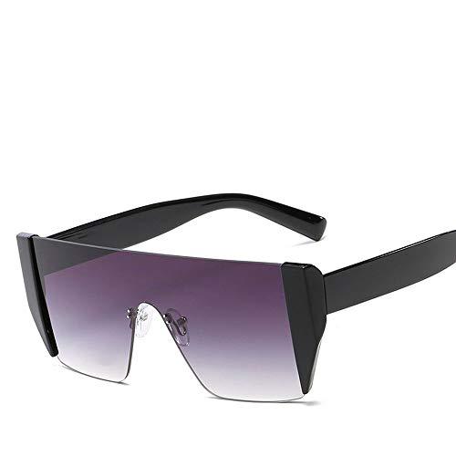 Belleashy Gafas De Sol para Caballeros Gafas de Sol polarizadas extragrandes UV400 para Hombre de One Piece Mens Gafas De Sol Polarizadas (Color : Gray, Size : Free Size)