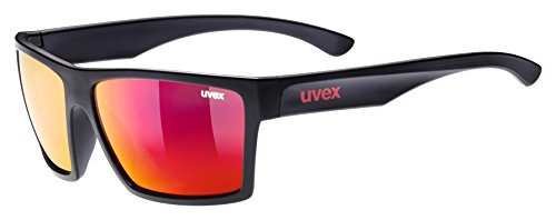 Uvex lgl 29, sonnenbrille Unisex Adulto, Black Mat/Red, One Size