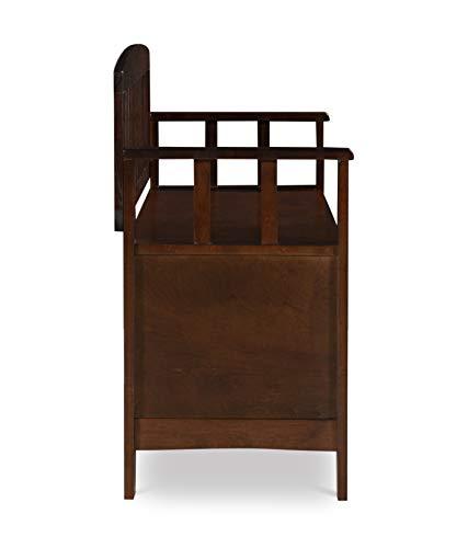 "Product Image 8: Linon Home Dcor Linon Home Decor Cynthia Storage Bench, 50""w x 17.25″d x 32″h, Walnut"