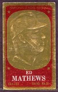 1965 Topps Embossed (Baseball) Card# 26 Ed Mathews of the Milwaukee Braves Ex Condition