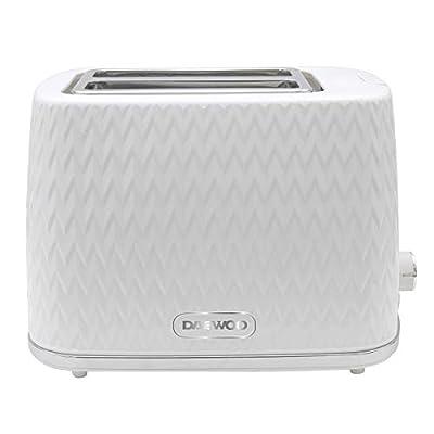 Daewoo SDA1781RD Argyle 2-Slice Toaster - White