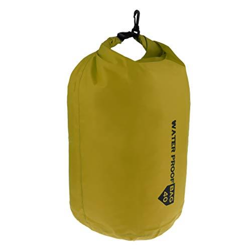 DYNWAVE ショルダーバッグ ドライバッグ 圧縮バッグ 収納 ポリエステル 防水 アウトドア 用品 全4カラー - 緑, 70L