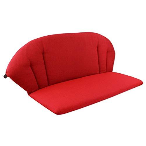 OUTLIV. Polsterauflage Elegance 2-Sitzer Bank Auflage 100x80 cm Sitz- Rückenkissen Rot Sitzauflage für Gartenbank und Sitzbank