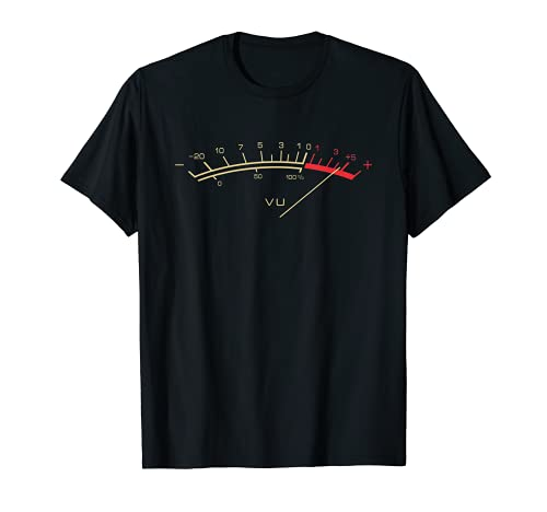 Retro VU Meter Hi-Fi Vintage Stereo Music Lover Gift T-Shirt