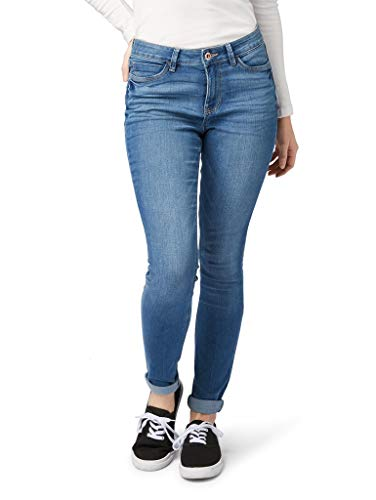 TOM TAILOR Denim Damen Nela Jeans, Blau (Mid Stone Wash Denim 10281), W32/L34 (Herstellergröße: 32)