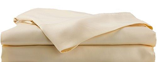 Hotel Sheets Direct Bamboo Bed Sheet Set - 100% Viscose from Bamboo Sheet Set, Cooling, Thermoregulating, Hypoallergenic (Queen, Cream/Yellow)