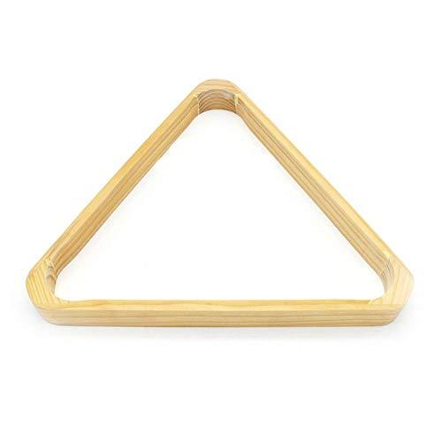 Ecisi Kiefernholz-Dreieck-Billardkugel-Gestelle, Holz-Dreieck-Billard-Gestell, langlebiges 8-Kugel-Gestell, Hartholz-Dreieck, Hält Standardkugeln in 2-1/4-Zoll-Größe, Billard- / Billardtischzubehör