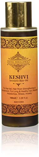 royal indulgence keshvi intensive hair oil - hair nutrition for a healthy hair & scalp (100ml) - Set of 5
