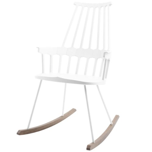 Kartell Comeback 595603 Rocking Chair 58 x 100 x 58 cm Seat Height 44 cm Oak Rockers White