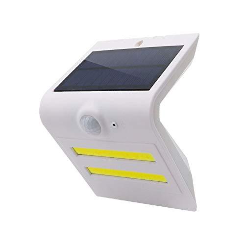 ROCCY Solarleuchten Outdoor,Solar Sensor Lichter, Solar-Sicherheitslichter, 16 LED Solar-Wandleuchte Human/Light Sensor wasserdichte superhelle Außenwandleuchten für Garten,Zaun,Tür,Hof,Wand,White