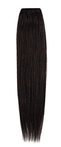 American Dream de qualité Platinum 100% cheveux humains Extensions capillaires 50,8 cm couleur 1B – Noir naturel