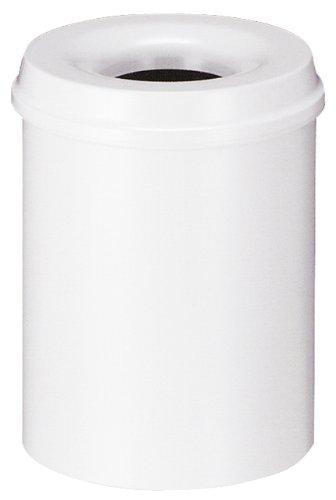 V-Part Selbstlöschender Papierkorb, 15 Liter, RAL 9010