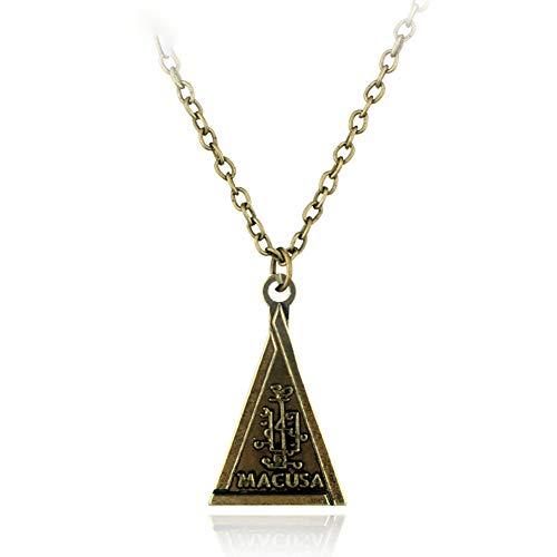 C- Collar-Joyas Animales Fantásticos Collares Triángulo De Bronce Colgante Collar