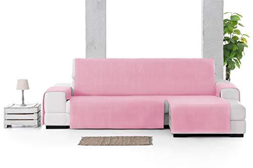 JM Textil Cubre Chaise Longue Leiva. Brazo Derecho, Tamaño Grande (290cm), Color: Rosa (02)