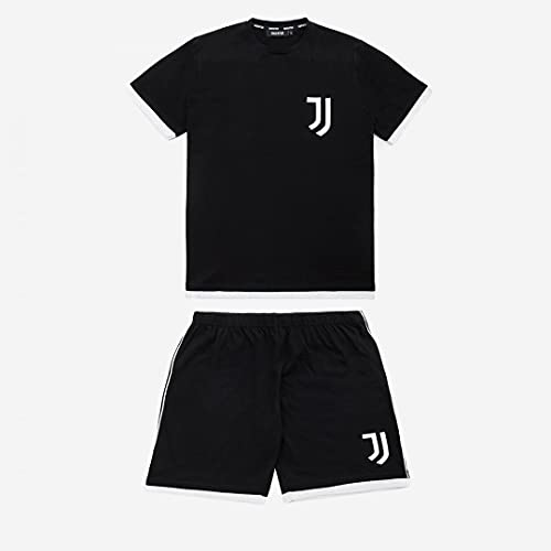 JUVE Juventus Pigiama Corto Uomo Primavera Estate 2021-100% Originale - 100% Prodotto Ufficiale - Colore Nero - Scegli la Taglia (Taglia L)