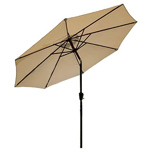 WUDAXIAN Paraguas al Aire Libre de 8.8 pies con 8 Varillas y manivela para sombrilla de Patio para jardín, balcón, Patio