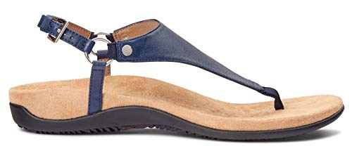 Vionic Women's Rest Kirra Backstrap Sandal - Ladies Sandals with Concealed Orthotic Arch Support Navy 9 W US