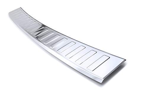 Bester der welt Ladeklappenschutz aus Edelstahl V2A mit Lünette Teileplus24 L667, mattes Silber
