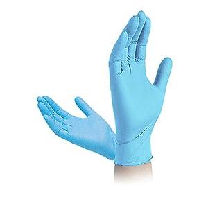 Belleza y Trabajo Padgene Guantes desechables de Nitrilo Industrial de Pl/ástico Azul 100 PCS Impermeable Guantes Resistente y Flexible para Hogar Talla M L L