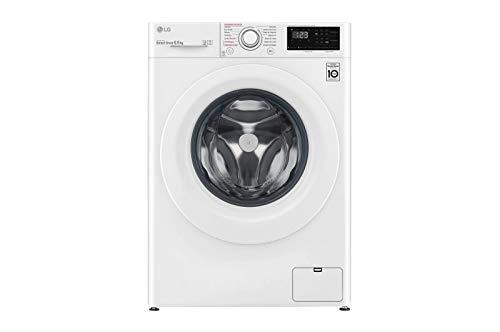 LG Electronics F2WN2S65S3W Intelligente Waschmaschine, Serie 200 Spezialboden, 6,5 kg, 1200 U/min, A+++(-20%), Weiß