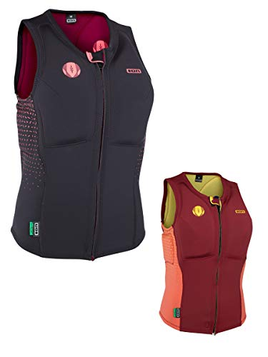 Mujer Licra Corto Ion Ivy Vest, red/shrimp pink, extra-small