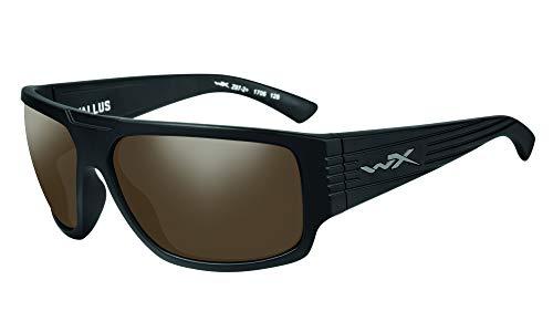 Wiley X Vallus - Gafas de sol certificadas según EN.166f (norma europea), color negro mate, M-L