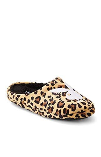 Playboy Men's By PacSun Leopard Bunny Slippers - Brown/Black size Large