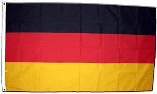 Flagge Deutschland Fahne Deutschlandflag 60x90 cm Hissflagge Hissfahne mit Ösen Querformat Fanfahne Flag