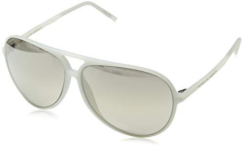 Porsche Design Sonnenbrille P8595 B 63 12 140 Gafas de sol, Blanco (Weiß), 63.0 para Hombre
