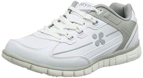 Oxypas Sunny Professionelle Arbeitsschuhe für Medizin/Pflege/Gastro, White/Grey (Light Grey), 6.5 UK (40 EU)
