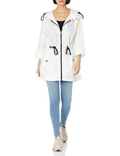 Big Chill Damen Waterproof Packable Hooded Outdoor Active Rainwear Anorak, weiß, 1X