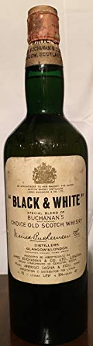 Black and White Special Blend of Buchanan's Choice Old Scoth Whisky (Sagna old bottle) 1960 75cl