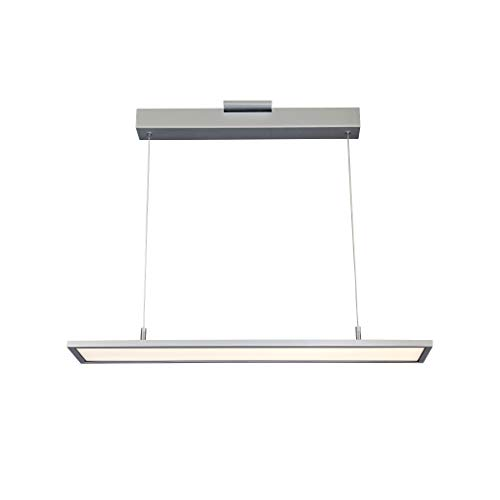 VONN VMC31610AL Modern Linear LED Chandelier Lighting with Adjustable Hanging Light, Silver
