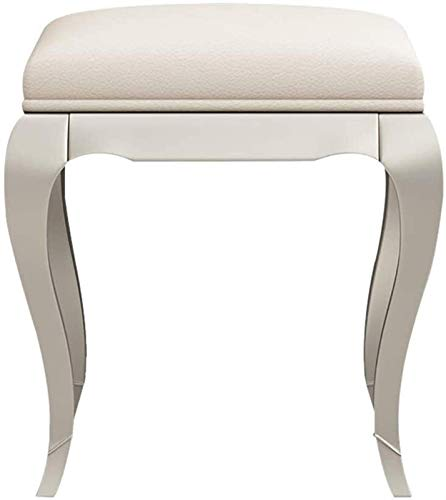 N/Z Daily Equipment Dressing Table Stool Dressing Table Stool Piano Chair Bedroom Padded Dresser Vanity Stool Stunning Cream French Stool with Upholstered Seat