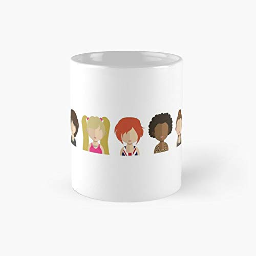 Spice Girls Up Your Life 90s Pop Icons Drawing Characters Classic Mug Best Gift Funny Coffee Mugs 11 Oz
