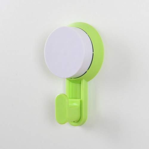 ZXJBM Fashion Household Multi Purpose Kitchen Bathroom Suction Cup Storage Hanger Vacuum Sucker Wall Hanging Suction Hook (Color : Green)