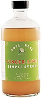 Royal Rose Ginger Lime Simple Syrup, 8 Fluid Ounce